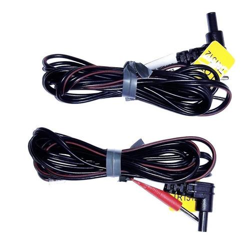 Par De Cables Conectores Tens Y Ems Cables Macho A Hembra