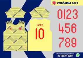 Camisa Colômbia 2019/20 Vetor Para Sublimação
