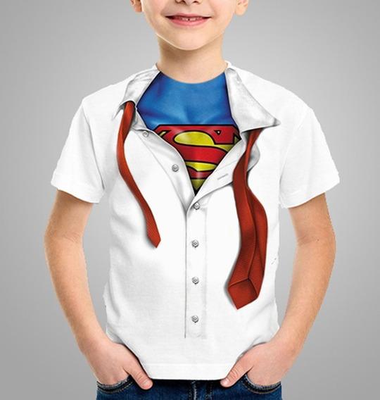 Camiseta Disfarce Super Man Homem Personalizada