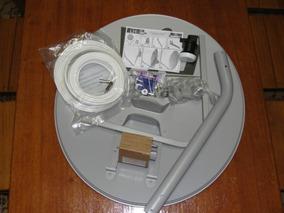 Antena Mini Parabólica 60cm Lnbf Cabo Coaxial Rg6 Ku 2 Pçs