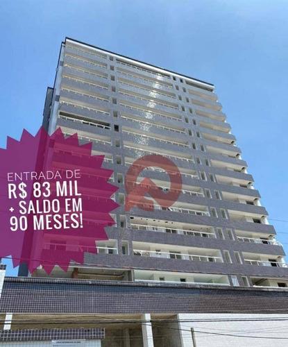 Apartamento Com 1 Dormitório À Venda, 53 M² Por R$ 265.000 - Canto Do Forte - Praia Grande/sp - Ap3361