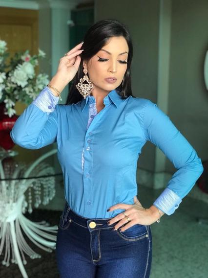 Camisa Blusa Social Feminina Slim Casual Trabalho