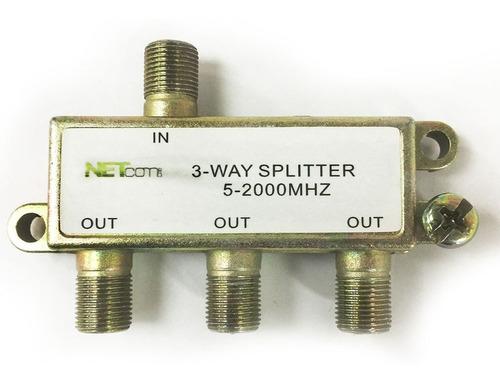 Splitter Coaxial 3 Vías 5-2000mhz