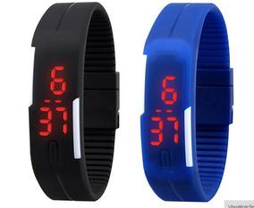 Relógio Led, Unisex. Disponível Apenas Na Cor Preta