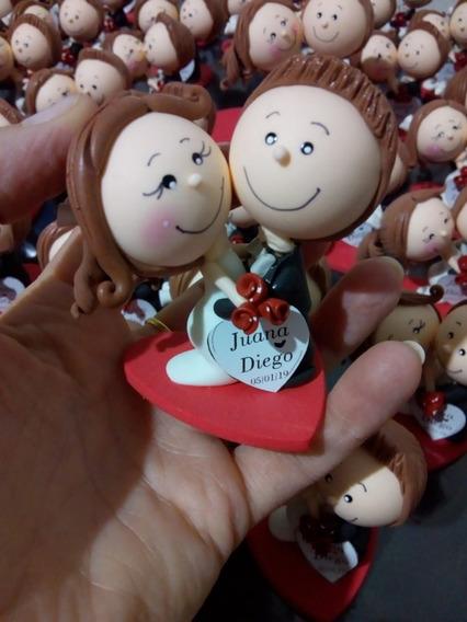 Souvenirs Para Casamiento Novios Boda Porcelana Fria X10