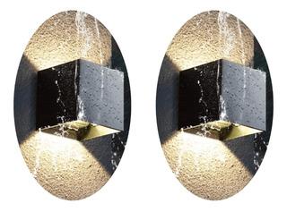 2 Lámparas Pared Muro Arbotante Baño Interior Exterior Led 6w