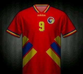 Camisa Romênia Retrô 1994 Hagi #10 Unif. 2 - Pronta Entrega