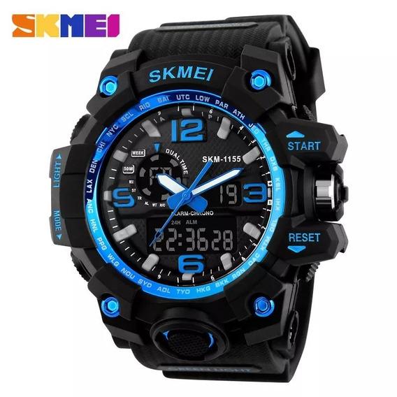 Relógio Militar Skmei Shock 1155 Original Á Prova D