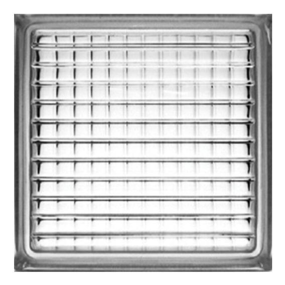 Vidrioblock 19x19x8 Transparente (cruzado) (caja 6 Pzas)