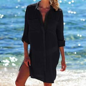 Biquini Praia Mulheres Verão Cobertura Acima Cardigã Shirt
