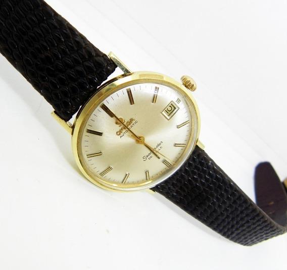 Reloj Omega Seamaster Deville Oro De 14 Kilates Fechador.