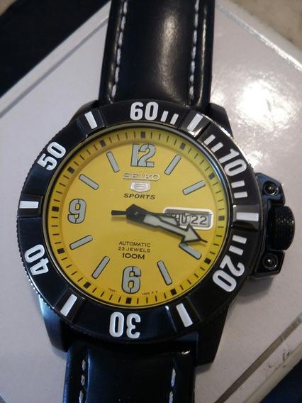 Relógio Seiko 5 - Automático - Aço Inox Pvd Negro - 40mm