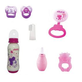 Kit Bebê Menina 5 / Kit Chupeta,mamadeira,acessórios