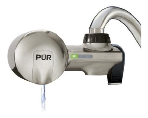 Llave Filtro De Agua Pur Advanced Color Plateado Mate-