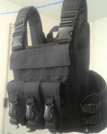 Chaleco Tactico Porta Placas Airsoft Gotcha Crossfit