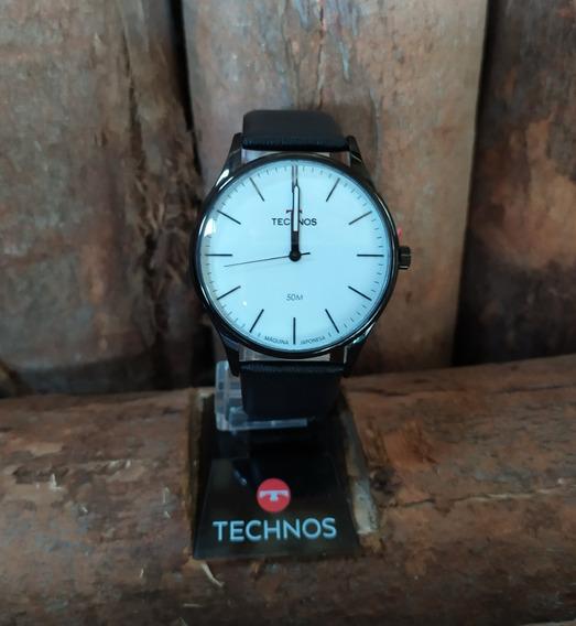 Relógio Technos Masc Classic \mod 2035mqq/2b Pulseira Couro
