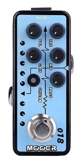 Pedal Micro Preamp Mooer P/ Guitarra Custom 100 - M018