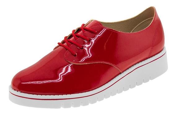 Sapato Feminino Oxford Vermelho Beira Rio - 4174101