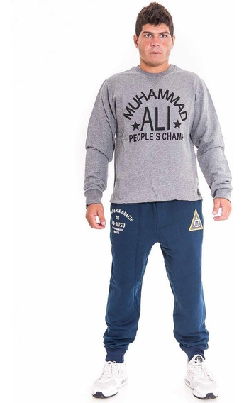Jogging Algodon Bronx Gracie Academy Jiu Jitsu Gym Mma Nogi