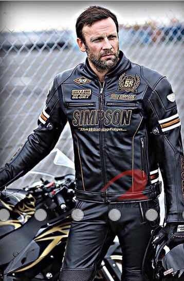 Jaqueta Estilo Dainese , Harley Davidson, Simpson Em Couro