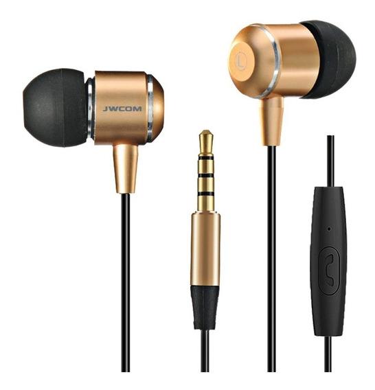 Kit 2 Fone In-ear Jwcom V3 Com Microfone Grave Estendido