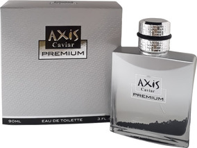 Perfume Axis Caviar Premium 90ml Masc Edt + Brinde Amostra