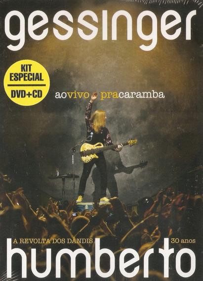 Dvd + Cd Humberto Gessinger - Ao Vivo Pra Caramba - Novo***