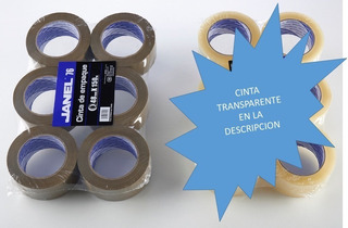 Cinta De Empaque Janel Canela Y Transparente 36pz 48x150