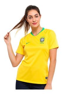 Camisa Nike Seleção Brasileira Feminina 2018/19 Amarela