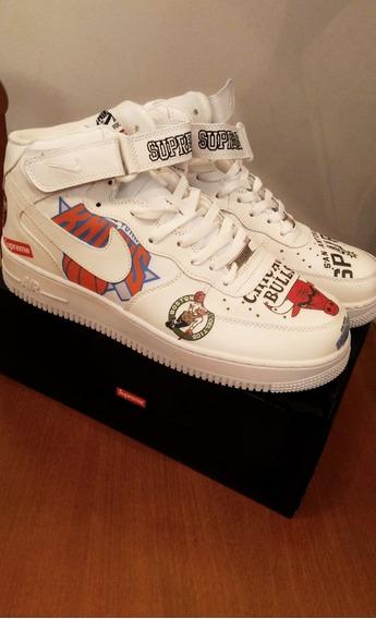 Tênis Nike Af1 X Nba X Supreme - Branco
