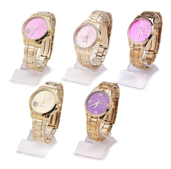 Kit 10 Relógios Feminino Moda Atacado + Caixa 12x Sem Juros
