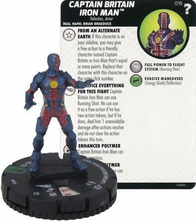 Heroclix - Captain Britain Iron Man #019 - What If? - Marvel