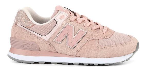 Tenis New Balance 574 Lancamento Feminino Rosa Original