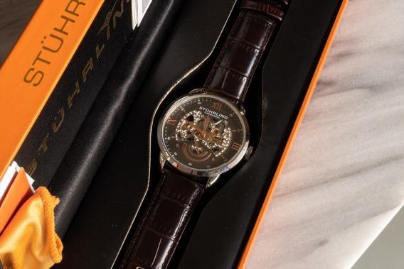 Reloj Stuhrling Original De Cuero 574.03