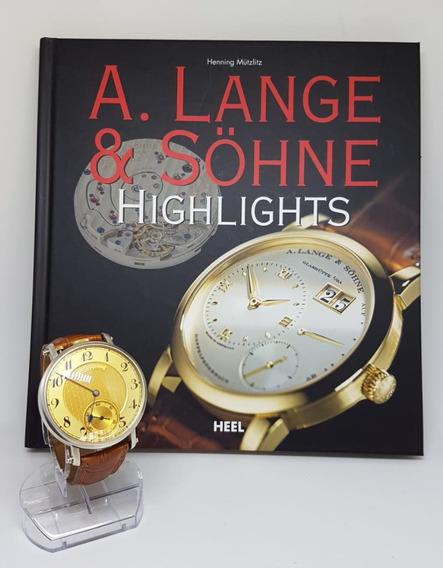 Relogio De Pulso Vintage A. Lange & Sohne Ouro E Prata 44 Mm