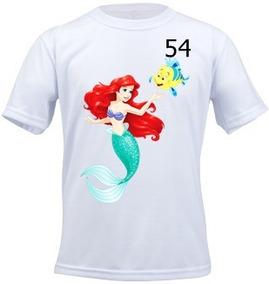 Camiseta Infantil Personalizada Pequena Sereia