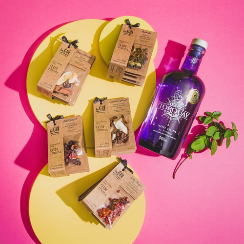Kit Gin Torquay + 5 Kits De Especiarias Para Gin Tônica