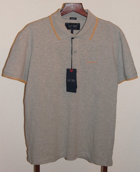 Armani Jeans Playera Polo Color Gris Talla Xl Original