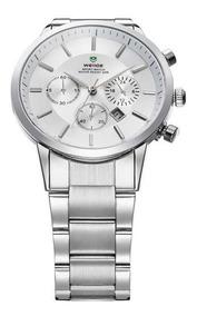 Relógio Masculino Clássico Aço Inox Weide 3312 Original