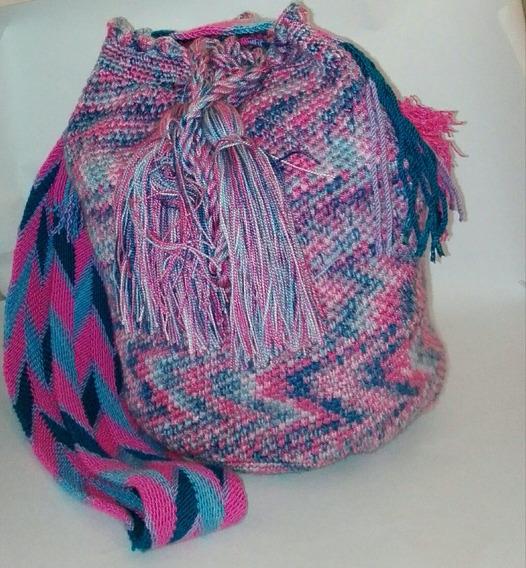 Mochila. Tejida Cargadera Estilo Wayuu