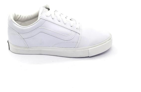 Zapatillas Lona Tipo Vans Blanco Total Hombre Mujer