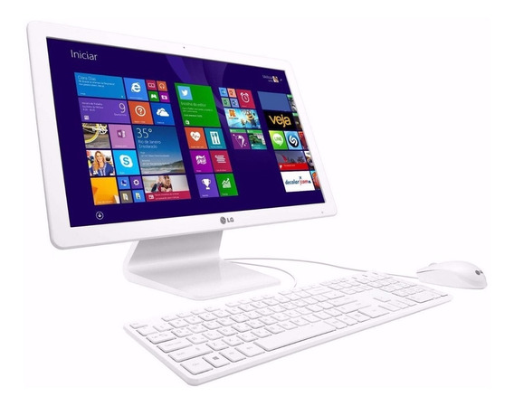 Computador Lg All In One Dual Core 4gb 500gb 21p - Promoção
