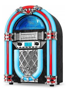 Parlante Bluetooth Rockola Victrola Retro Jukebox Radio 10w