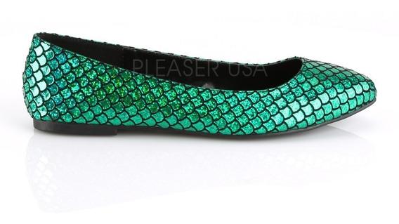 Zapatos Flats Estampado Sirena Mermaid-21 Ariel Disney Punk