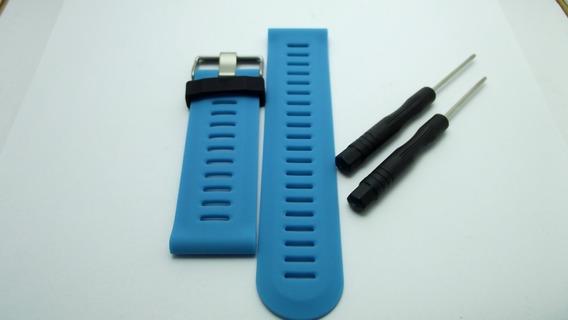 Pulseira Silicone Garmin Fenix 3 Azul +chaves