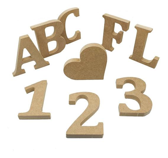 5 Letras Em Mdf Cru Com 12cm De Altura Festa Decoração 15mm