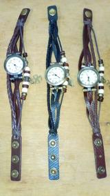Relógio Importado De Pulso Vintage Feminino Em Couro!
