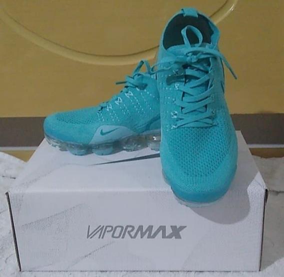 Tenis Nike Vapormax 2.0 Verde Agua Nº37 Original Na Caixa!!!