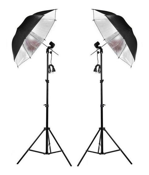 Kit Iluminação Contínua Estúdio Prata Fotografia E Filmagem
