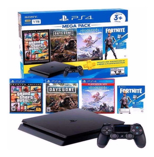 Consola Slim 1 Tera Ps4 Mega Pack 6 Playstation 4